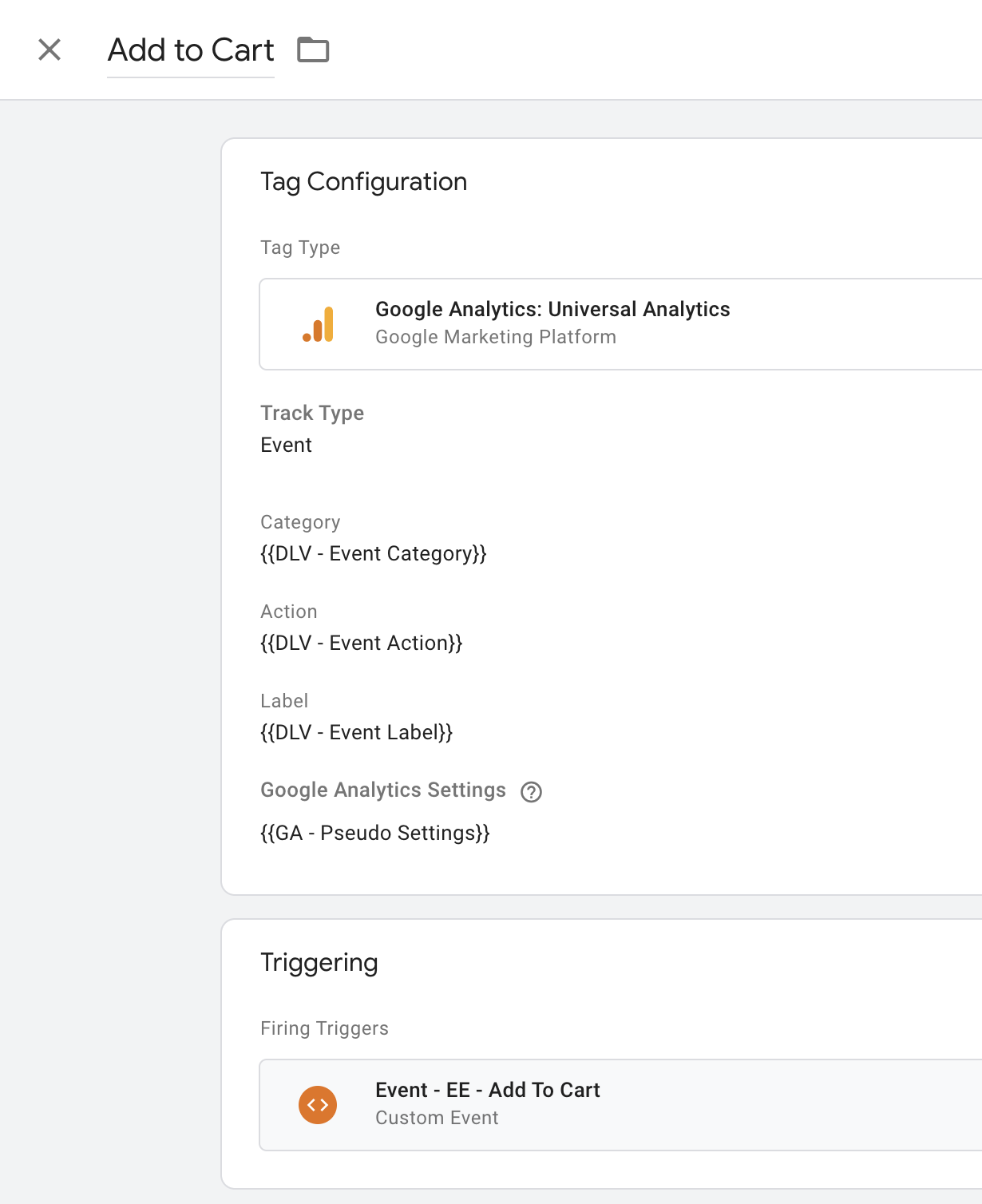 Universal tracking tag for Enhanced Ecommerce in Google Analytics