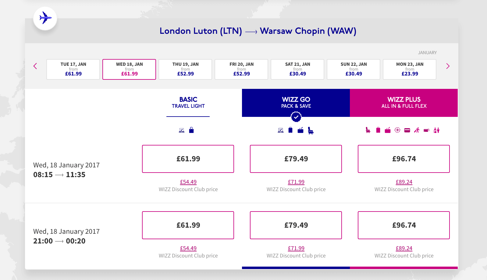 Booking page tracking