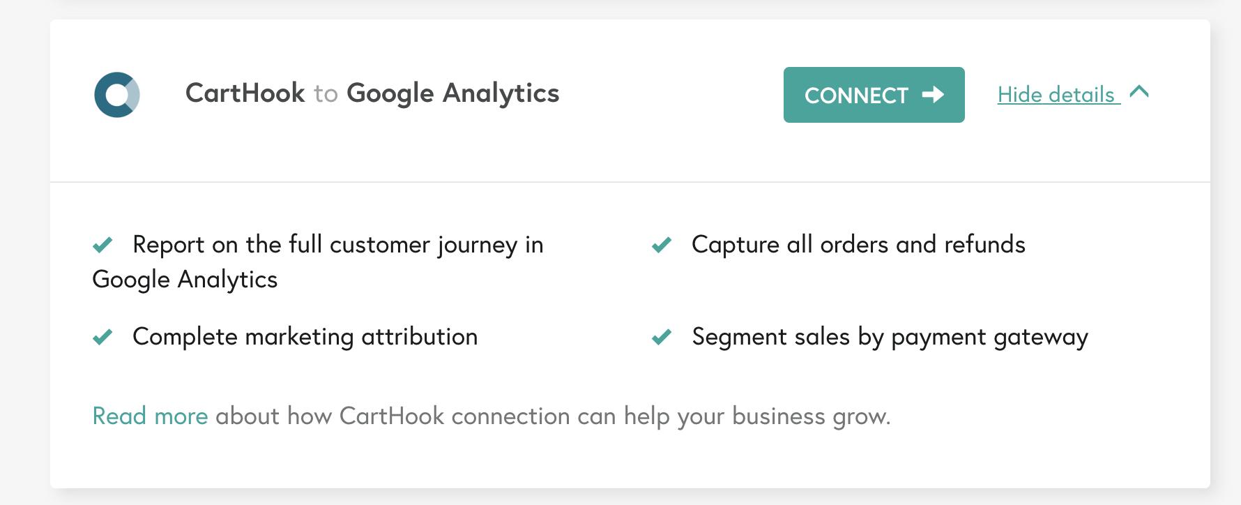 littledata google analytics shopify carthook integration