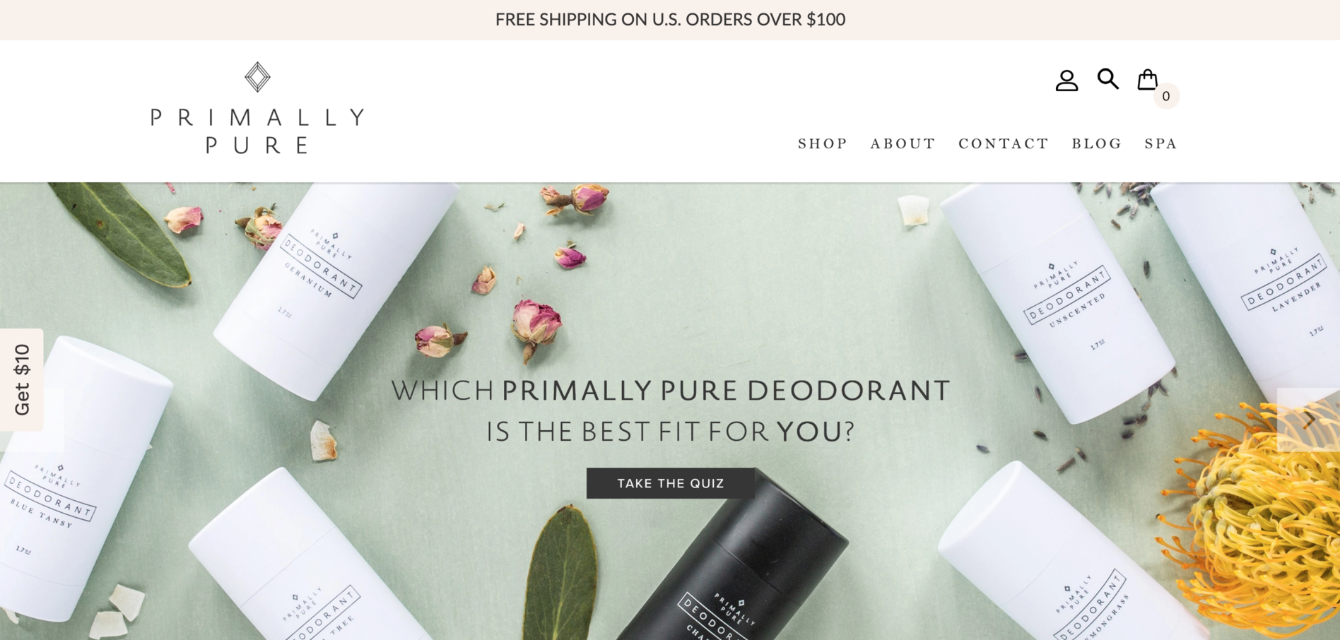 Primarily Pure skincare brand using Refersion for their ecommerce site