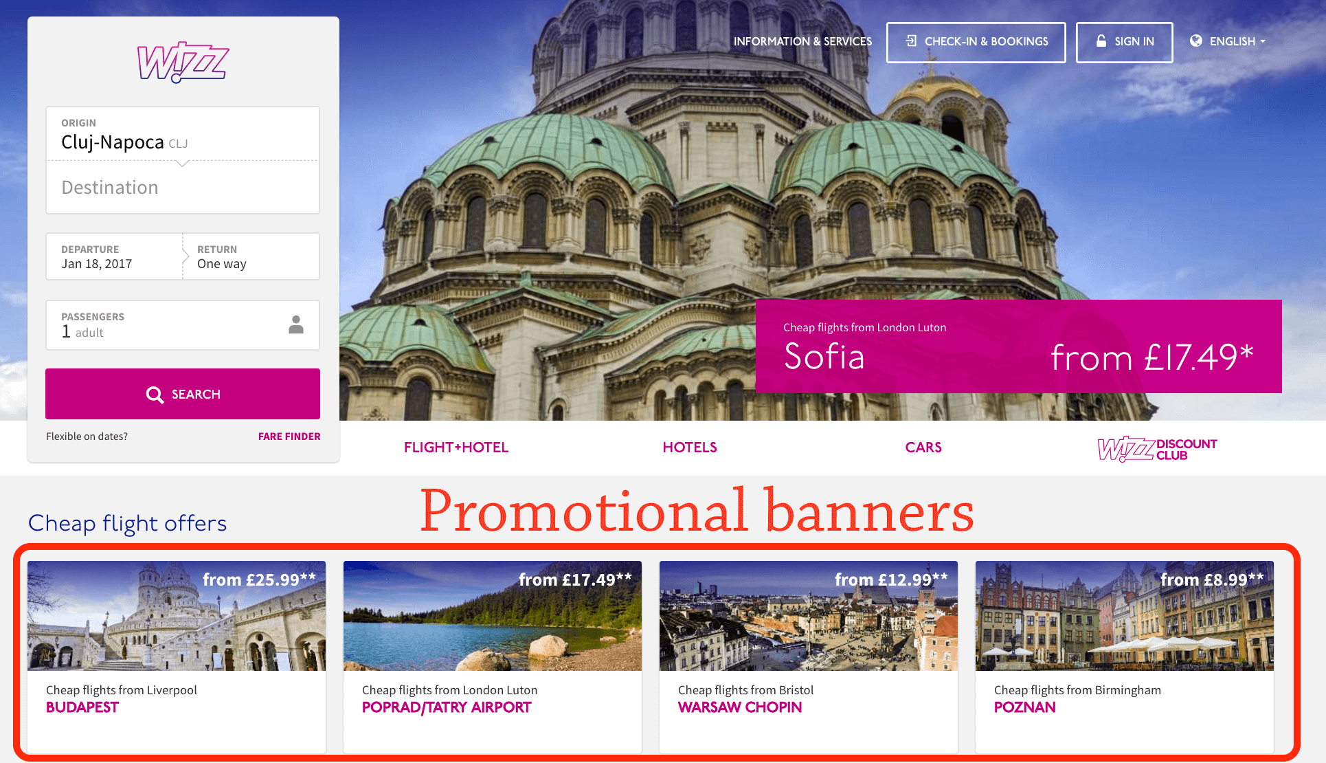 Capture promotions impressions and click