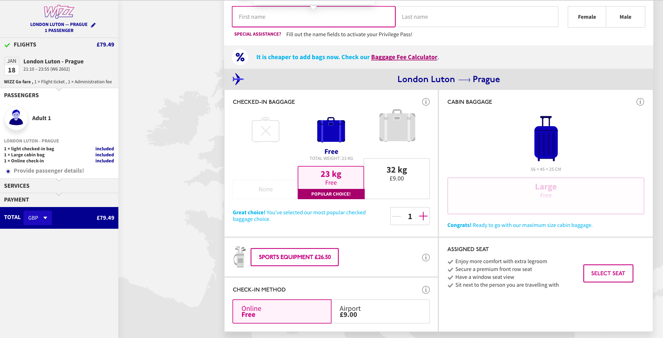 Checkout steps for non-ecommerce websites