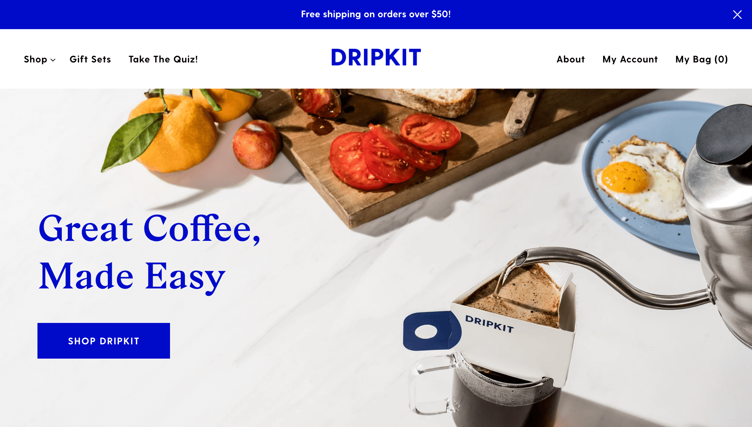 dripkit coffee shopify recharge connection by littledata