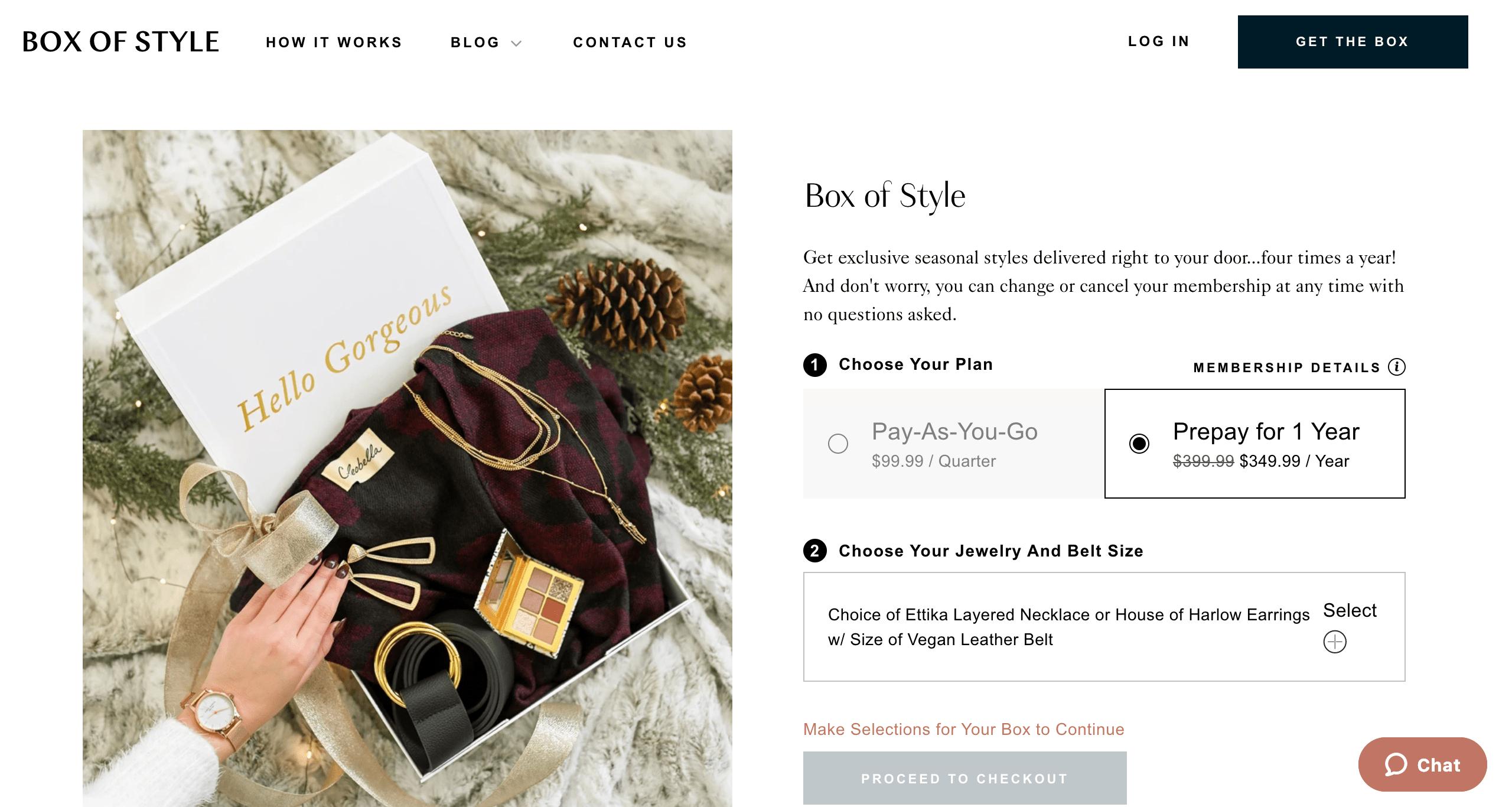 box of style fashion beauty shopify conversion optimization