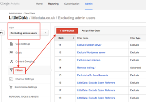 exclude referral spam with filter in google analytics