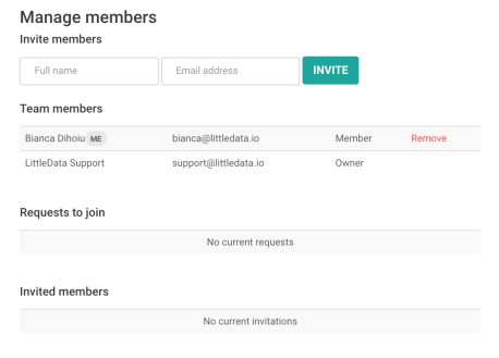 Manage team members and invites from your Littledata admin dashboard