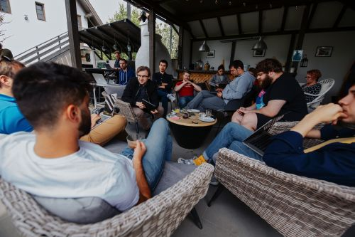 Littledata team collaborating at an offsite meeting