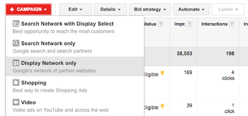 google display campaign dynamic remarketing