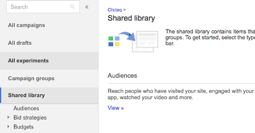 shared library audiences google ads
