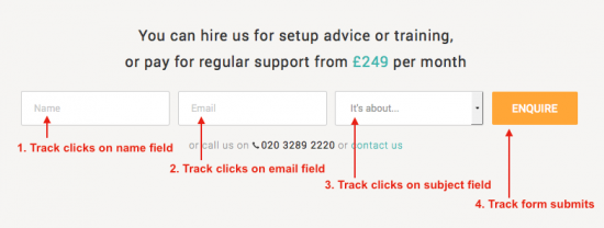 Tracking form fields and form submits in gtm v2
