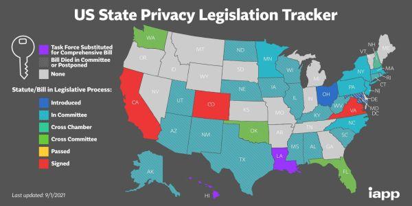 US State Privacy Legislation Map