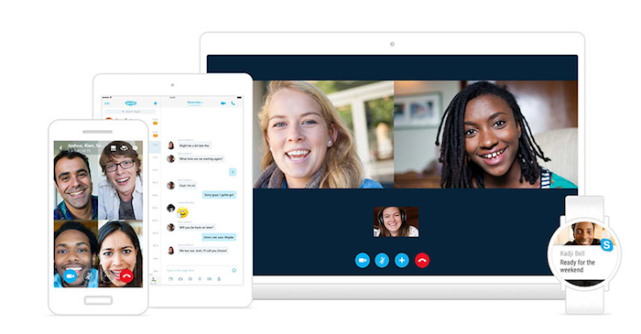 View into how Skype looks