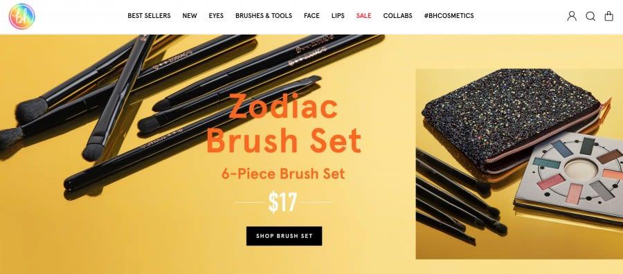 bh cosmetics shopify segment app