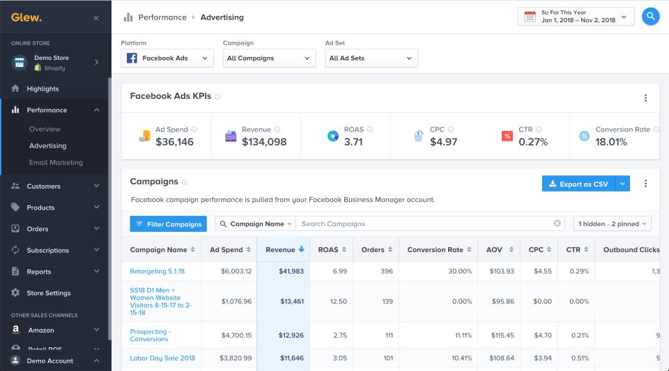 glew vs littledata ecommerce reporting tools for ecommerce data