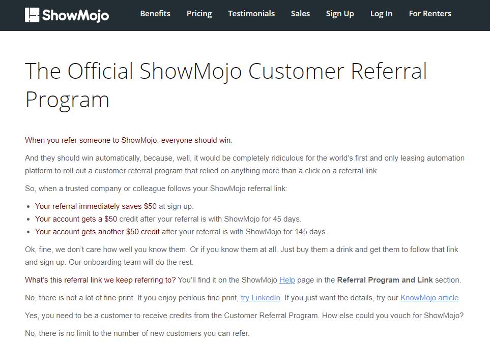 showmojo referral policy