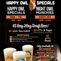 Happy Owl Specials