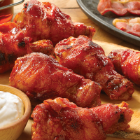 Bacon Wrapped Wings