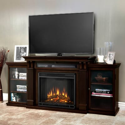 Real Flame Calie Media Console Electric Fireplace Video Image - Real Flame Calie Media Console Electric Fireplace - 7720E-DW