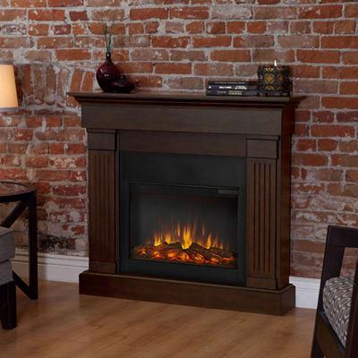 Real Flame Crawford Slim-Line Electric Fireplace Heater Primary Image - Real Flame Crawford Slim-Line Electric Fireplace Heater - 8020E-CO