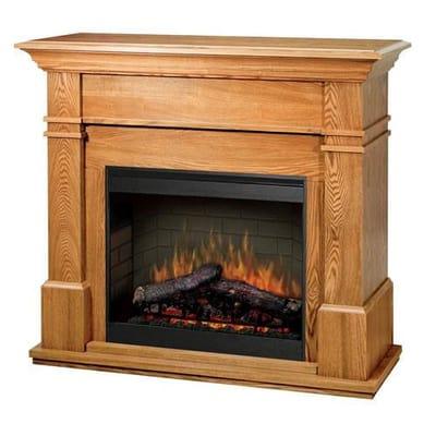 Dimplex Maestro Kenton Electric Fireplace - Oak Video Image - Dimplex Maestro Kenton Electric Fireplace - Oak