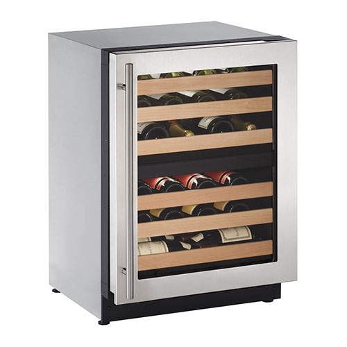 U-Line Built-In Dual Zone Wine Cooler with Lock - 2224ZWCS-15A