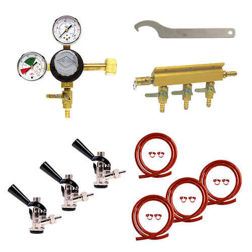 Triple Faucet Commercial Direct Draw Kit