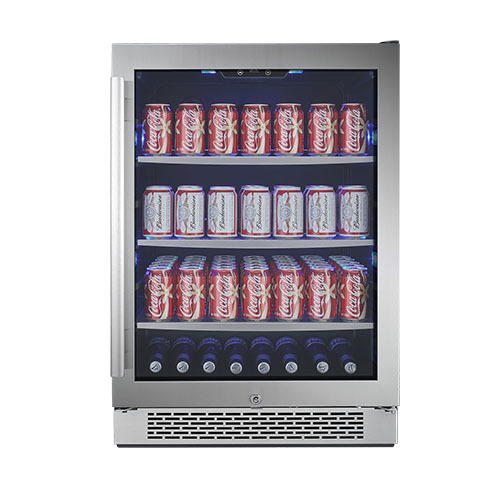Avallon Built-in Beverage Refrigerator Holds 152 Cans of Beer or Soda