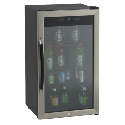 Avanti 3.1 Cu. Ft. Beverage Cooler - Black/Stainless Steel