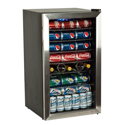 EdgeStar Beverage Refrigerator Holds 103 Cans - Stainless Steel