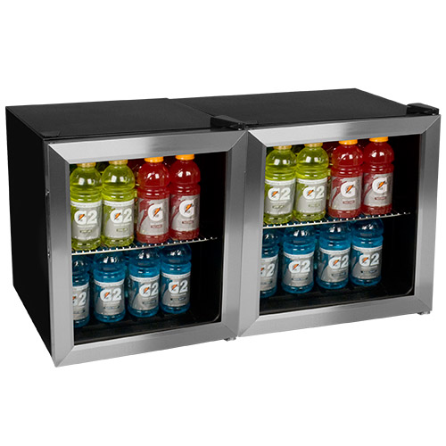 EdgeStar 124 Can Side-by-Side Beverage Cooler - BWC70SSDUAL