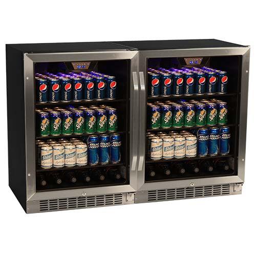 EdgeStar Side-by-Side Beverage Cooler - CBR1501SGDUAL