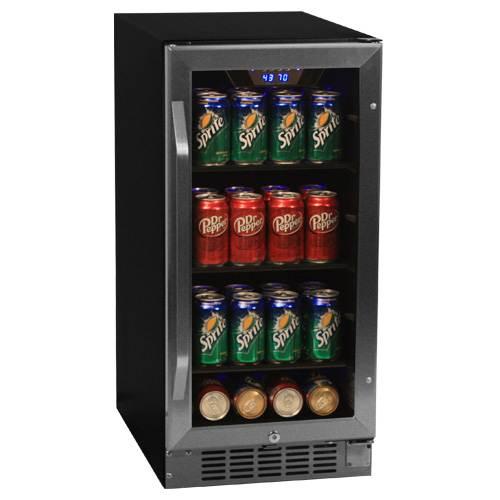 EdgeStar Built-in Beverage Refrigerator Holds 180 Cans of Beer & Soda