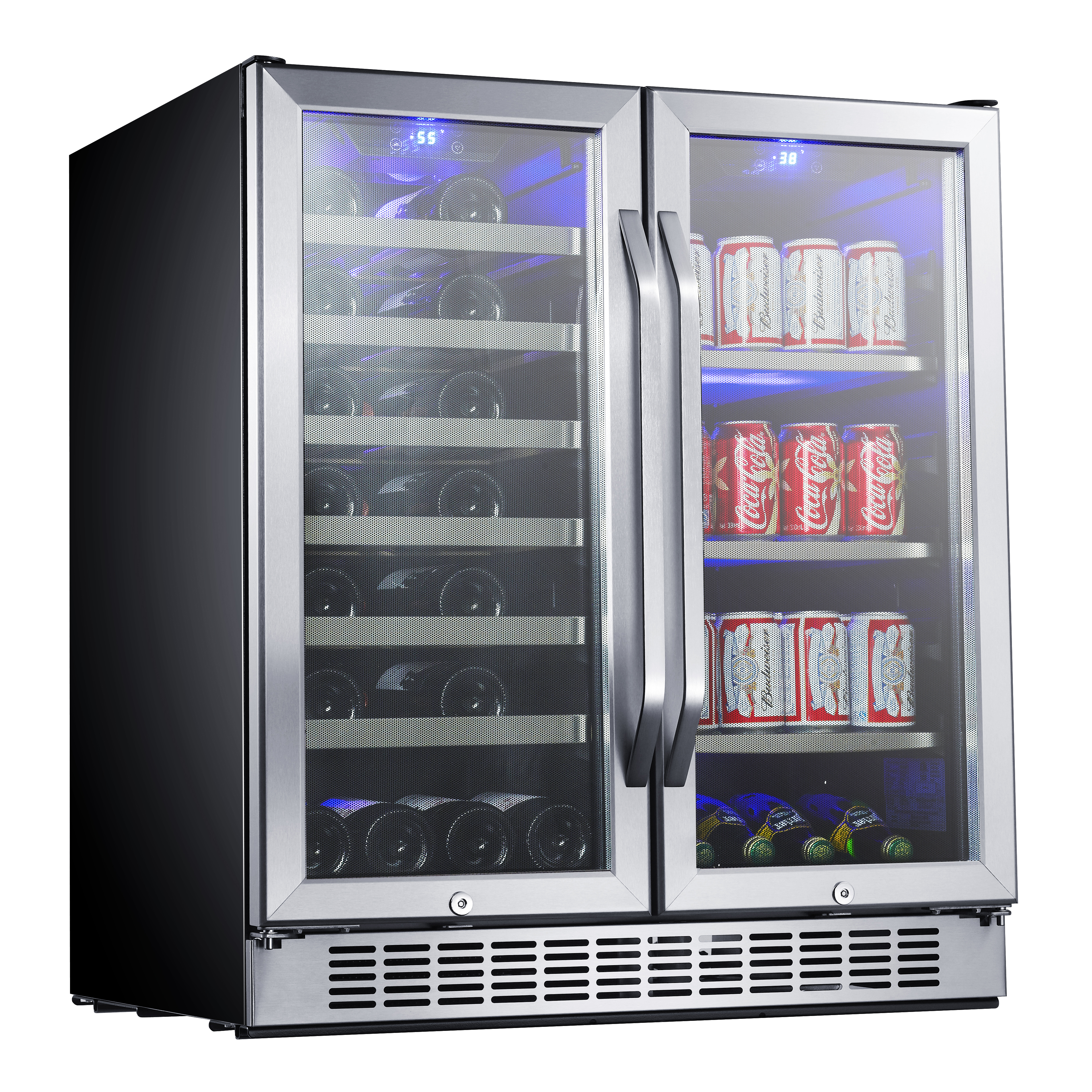 EdgeStar 30 Built-In Dual Zone Wine and Beverage Cooler - CWB2886FD