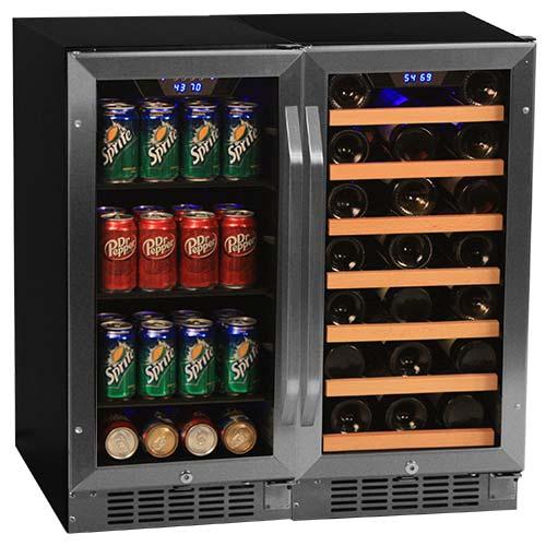 EdgeStar Side-by-Side Wine & Beverage Center - CWBV8030