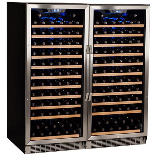 EdgeStar 242 Bottle Built-In Side-by-Side Wine Cooler - CWR1211SZDUAL