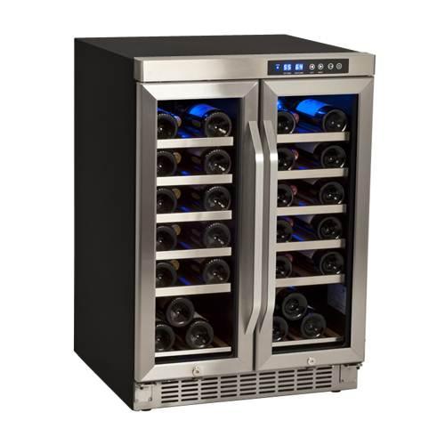 EdgeStar 36 Bottle Built-In Dual Zone Wine Cooler - CWR361FD