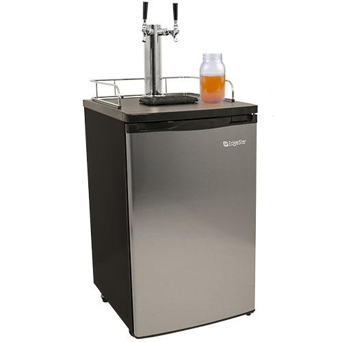 Twin Faucet Kombucha Dispenser - Stainless Door