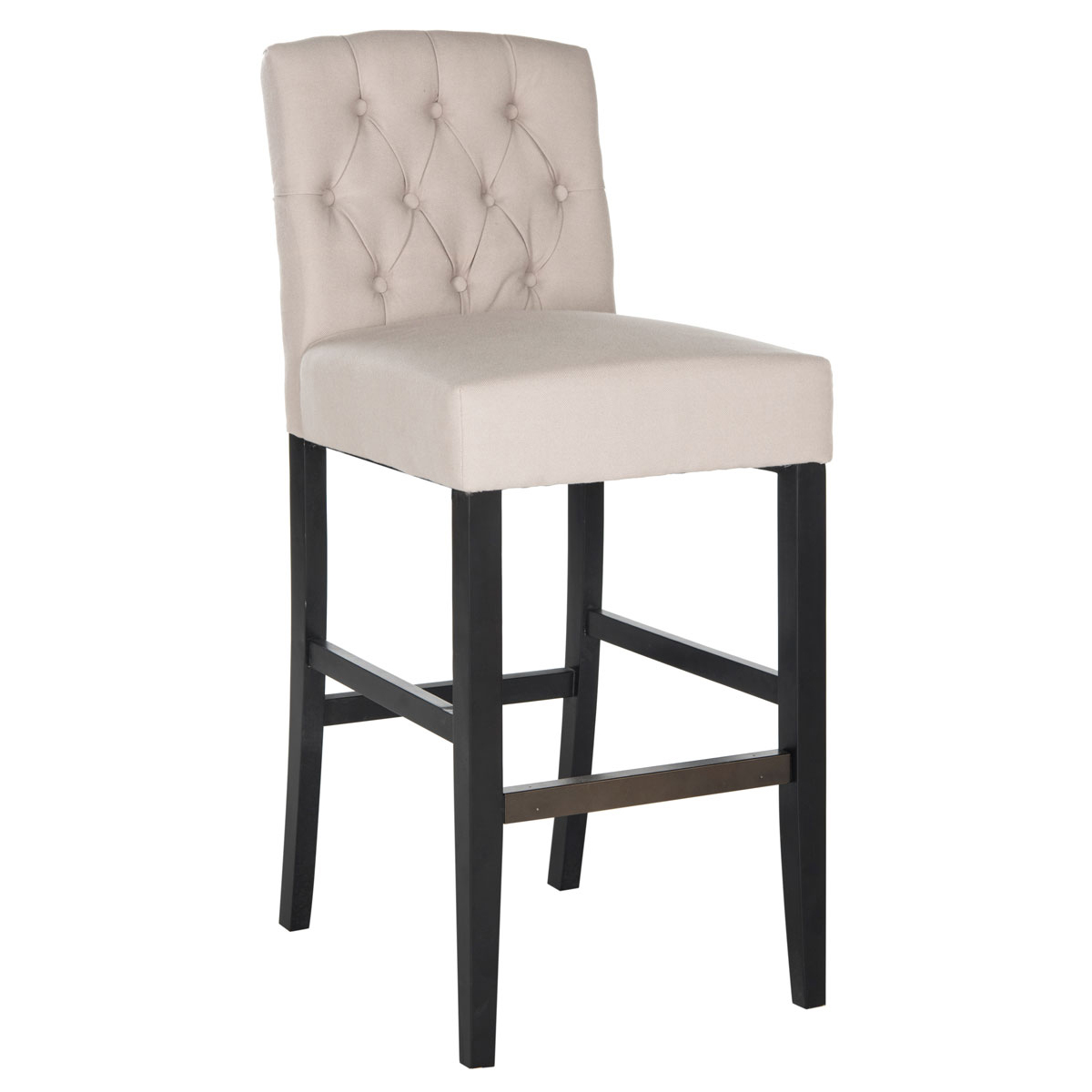 Maisie Tufted Bar Stool in Taupe