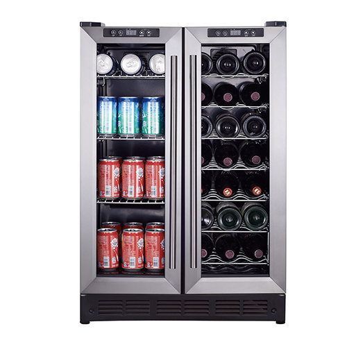 Magic Chef 24  Built-In French Door Dual Zone Wine and Beverage Cooler