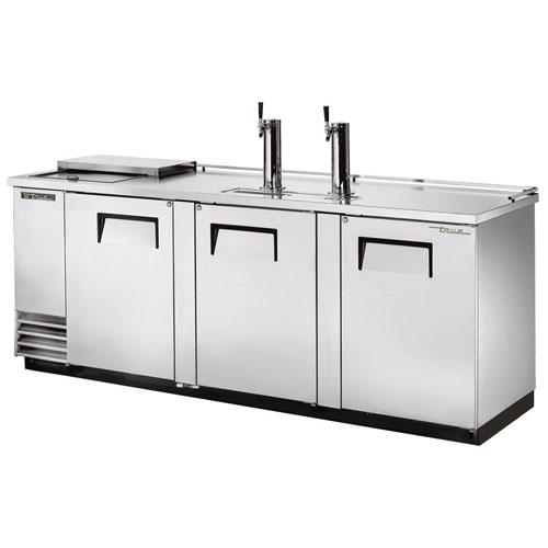 True 4 Keg Stainless Steel Club Top Direct Draw Beer Dispenser