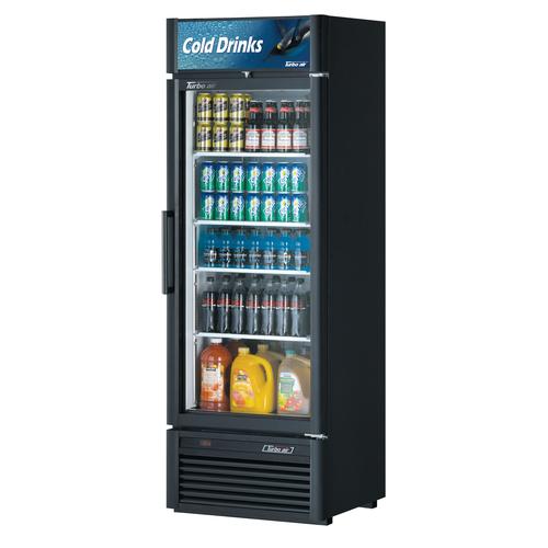Turbo Air 17.5 Cu. Ft. Glass Door Refrigerated Merchandiser- Super Deluxe Series - Black