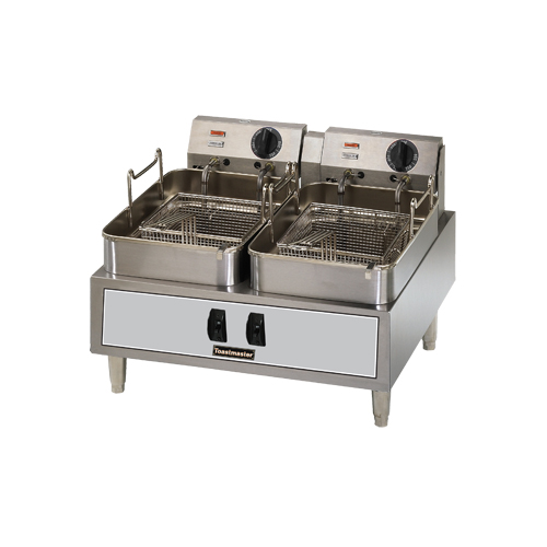 Countertop Air Fryer : 15lb. Twin Pot Electric Countertop Commercial Fryer