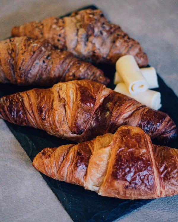 Croissants com queijo