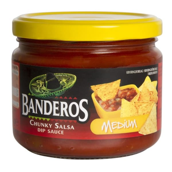 Molho salsa medium hot Banderos 300gr