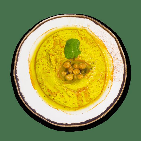 Hummus Grão com pão