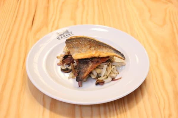 Peixe do Dia com Legumes Salteados em Molho de Soja