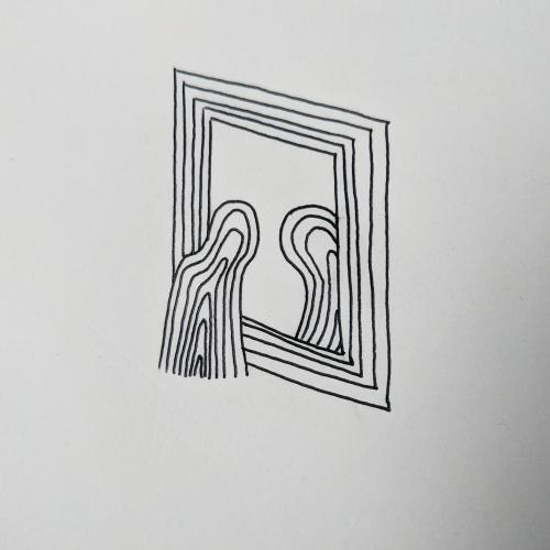 Reflection (2018). Medium - Pen on paper.