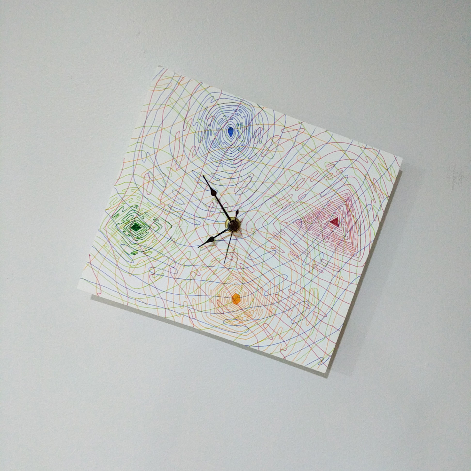 Timepiece (2018). Medium - Marker on paper.