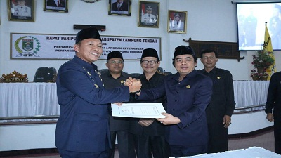 DPRD Lamteng Apresiasi Keberhasilan Bupati Mustafa