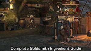 FFXIV - Complete Goldsmith Ingredient Guide List | Final